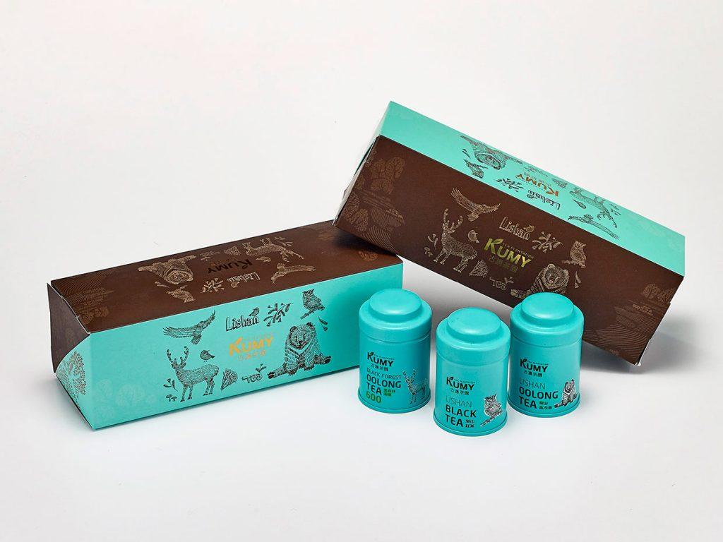 台北國際食品展 茶葉禮盒-古邁星賞 梨山黑森林(烏龍600&127+紅茶171)