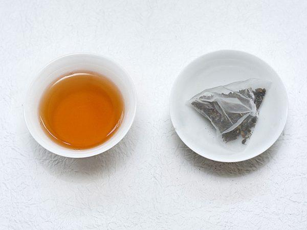 古邁紅茶立體茶包茶湯